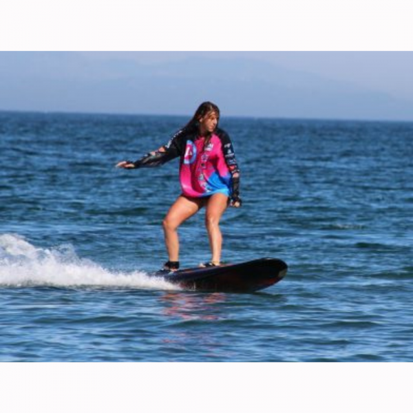 girl on carver x jetboard